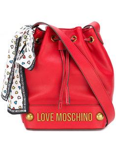 сумка через плечо со сборкой Love Moschino