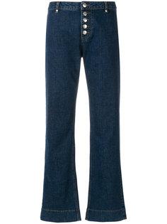 джинсы клеш с пуговицами  Alexa Chung