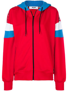 armband zip-up hoodie MSGM