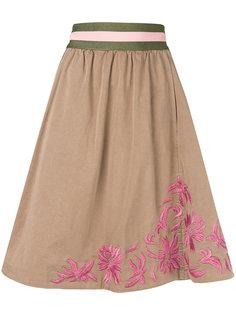 юбка с цветочной вышивкой Bazar Deluxe