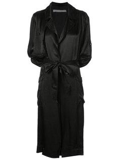 легкое пальто с завязками на талии Raquel Allegra
