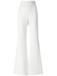 твидовые брюки с завышенной талией  Balmain