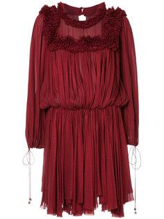 платье с оборками Maria Lucia Hohan