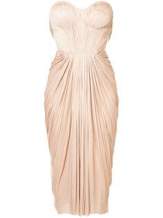 плиссированное платье со сборками Maria Lucia Hohan