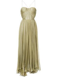 плиссированное платье без бретелек Maria Lucia Hohan