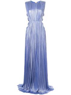 плиссированное вечернее платье с вырезными деталями Maria Lucia Hohan