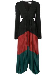 плиссированное платье-миди в стиле колор-блок A.L.C.
