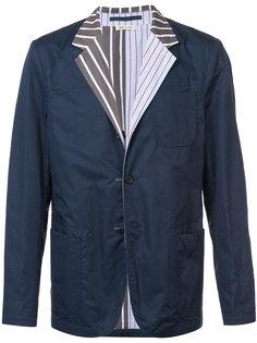 пиджак с полосатыми лацканами Marni