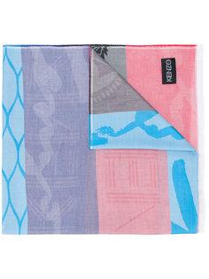 шарф с комбинированным принтом Kenzo