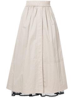 юбка с кружевным подъюбником Dorothee Schumacher