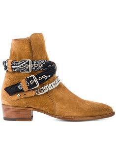 ботинки с ремешками-банданами Amiri