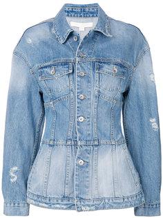 джинсовая куртка с баской  Jonathan Simkhai