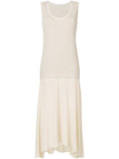 платье в рубчик без рукавов  Agnona