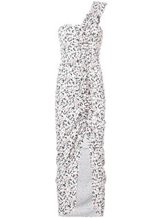 floral print ruffled one shoulder dress Veronica Beard
