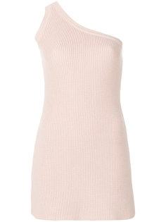трикотажное платье на одно плечо Unravel Project