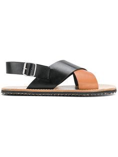 сандалии с перекрещивающимися ремешками Marni