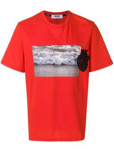 футболка с аппликацией  MSGM