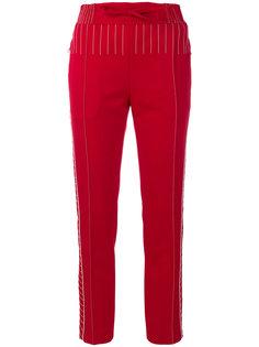 брюки с контрастной строчкой Valentino