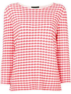 свитер с геометрическим принтом  Emporio Armani