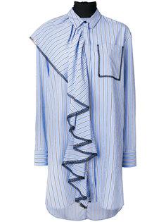 длинная рубашка с оборками MSGM