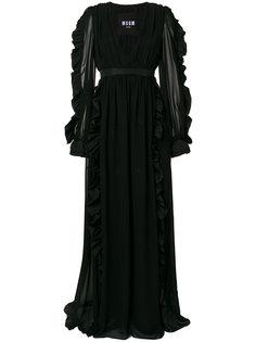 вечернее платье с оборками MSGM
