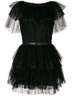 многослойное платье мини из тюля MSGM