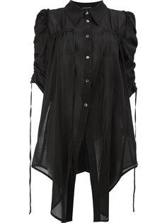 длинная присборенная рубашка  Ann Demeulemeester