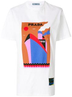 футболка с принтом судна Prada
