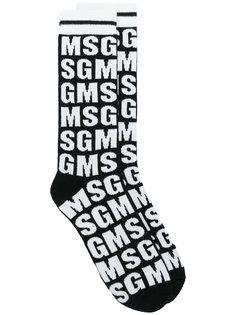 носки с логотипом  MSGM
