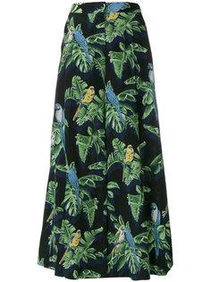 широкие брюки  с растительным принтом  Stella McCartney