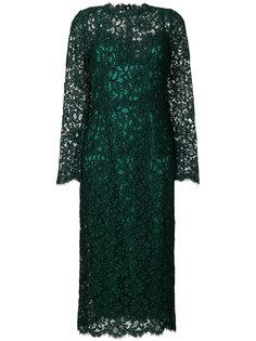 кружевное платье с длинными рукавами  Dolce & Gabbana