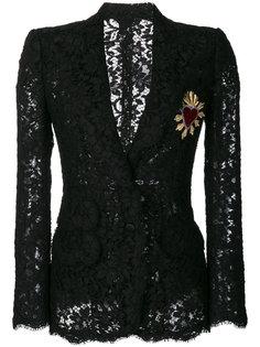 кружевной блейзер Sacred Heart Dolce & Gabbana