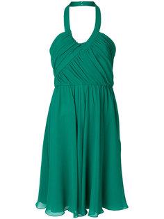шифоновое платье с вырезом-халтер Lanvin