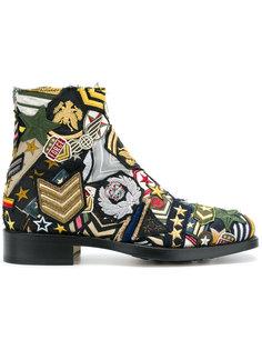 ботинки с нашивками Maison Margiela