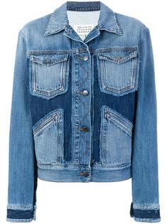 джинсовая куртка  с заплатками Maison Margiela