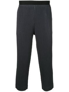 укороченные текстурированные брюки Homme Plissé Issey Miyake