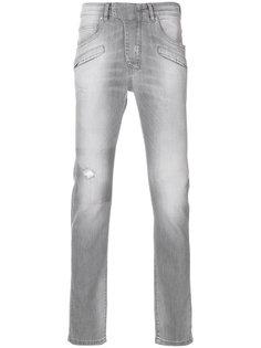 выбеленные джинсы слим  Pierre Balmain