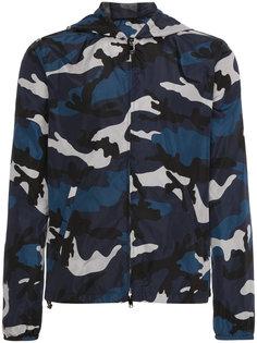 куртка с капюшоном и камуфляжным принтом  Valentino