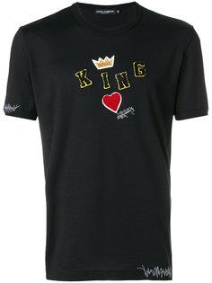 футболка с заплаткой King Dolce & Gabbana