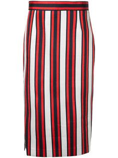 полосатая юбка-карандаш  Smythe