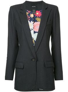 пиджак с заостренными лацканами  Smythe