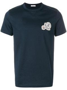 футболка с заплаткой с логотипом Moncler