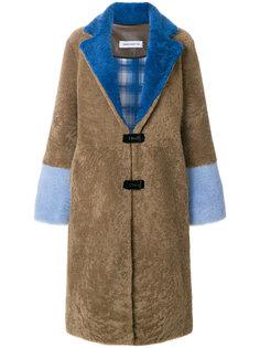 пальто дизайна колор-блок Saks Potts