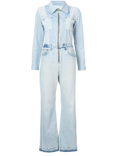 джинсовый комбинезон с расклешенными штанинами Re/Done