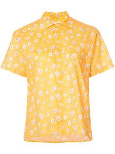 рубашка с короткими рукавами и цветочным рисунком R13