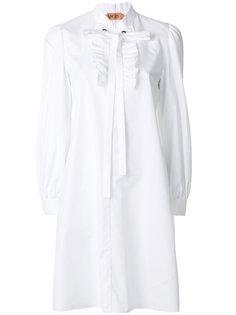 платье-рубашка с оборкой спереди  Nº21