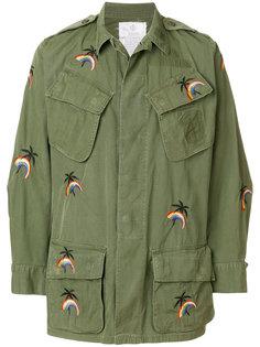 куртка с вышивкой в стиле милитари As65