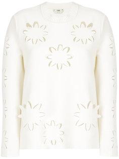 свитер с вырезами  Fendi