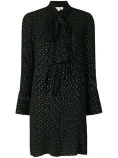 платье-рубашка с завязкой и узором в горох  Michael Michael Kors