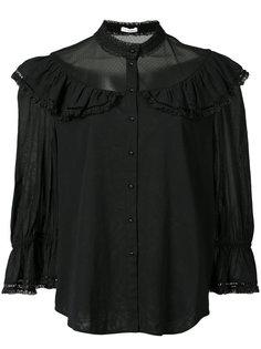 блузка с оборками и полупрозрачными вставками Vilshenko